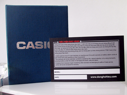 tem bảo hành của đồng hồ casio