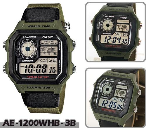 Đồng hồ Casio AE-1200WHB-3BVDF