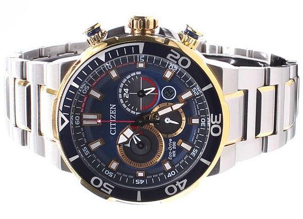 Viền đồng hồ nam Citizen CA4254-53L mạ vàng cao cấp