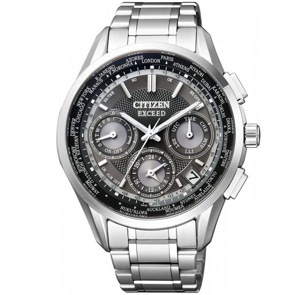 Đồng hồ nam Citizen Exceed CC9050-53E Eco Drive - Dây kim loại - định vị GPS