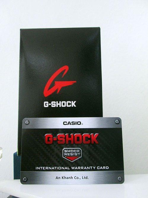 Thẻ bảo hành quốc tế của gshock